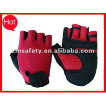 Half finger knitted fabric bike glove