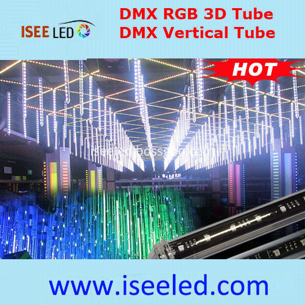 DMX 3D RGB LED Tube Lamp