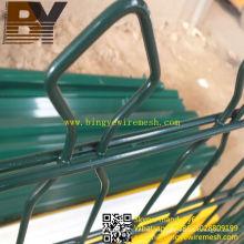 Valla de alambre de doble circuito recubierto de PVC