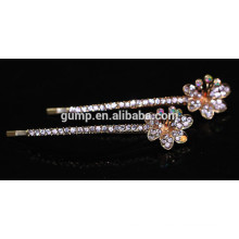 2015 Nouveau design de fleurs Charmant brillant Crystal Barrette strass Bobby broche