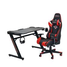 2021 Amazon Hot Selling 120cm*67cm*75cm PC Computer Desk 6 Color Gaming Desk with RGB Light Gaming Desk with Carbon Fiber Textured Desktop