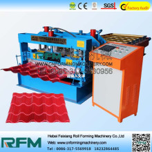 Color esmaltado Roof Tile Roll Forming Machine