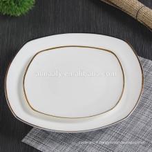 GGK restaurant ceramic dinner plate