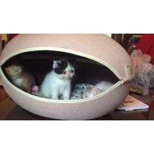 2017 doglemi respectueux de l'environnement forme d'oeuf animal chien chat maison grotte lit