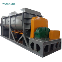 Industrial sludge hollow blade drying machine double shaft drum dryer paddle dehydrator