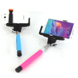 Cable Connection Extendable Selfie Stick Monopod for iPhone, Samsung
