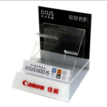 Custom Shop Camera Acrylic Tabletop Stand, Point of Sale Display