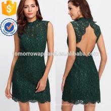 Abra o vestido de renda floral volta manufatura atacado moda feminina vestuário (td3219d)