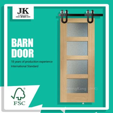 JHK-G17 Faux Wood Shutter Door Interior Decorative Wooden Door Philippines Sliding Door