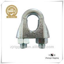 Jis de abrazadera de cable de acero maleable galvanizado tipo B