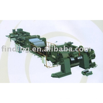 High speed uncoiling-leveling-cut to length-stacking line