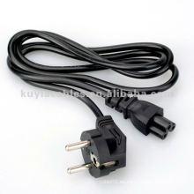 Cable de alimentación europeo del soporte para el ordenador portátil 1.8m negro