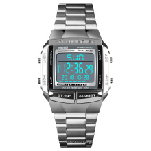 SKMEI 1381 Men Sports Watches Waterproof LED Electronic Digital Stainless Steel Watch