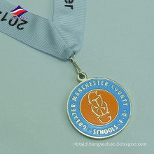 Die cast souvenir cheap newest lower price metal medal ribbon