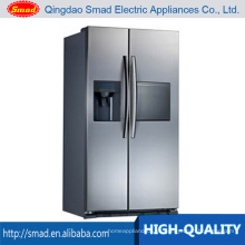Refrigerador comercial de dos puertas verticales con dispensador de hielo / dispensador de agua / barra de agua