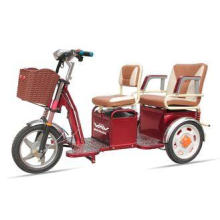 Two Passengers Motorized Electric Tricycles , Three Wheel E