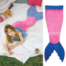 Mermaid Tail Double Flannel Saco de dormir para niños Baby Blanket