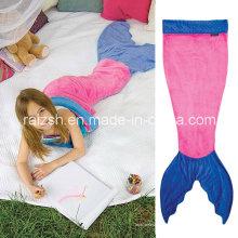 Хвост русалки двойной фланель спальный мешок для детей Детское одеяло