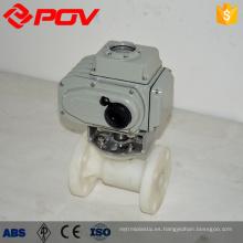 Actuador eléctrico válvula de bola de 1 pulgada con bridas válvula pvdf