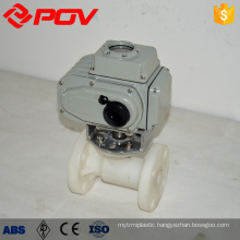 Electric actuator 1 inch ball valve flanged pvdf valve