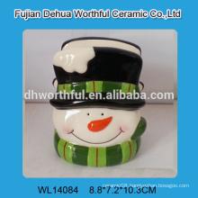 Lovely snowman shaped ceramic napkin holder