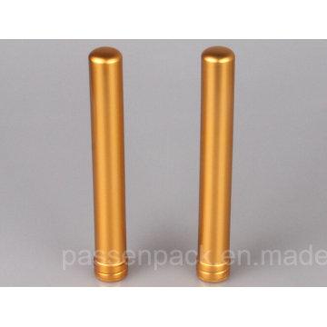 Tubo de aluminio de oro del cigarro para el tabaco de Cuba (PPC-ACT-001)