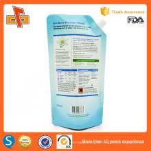 spout top santing custom printing plastic laundry detergent packaging 500ml