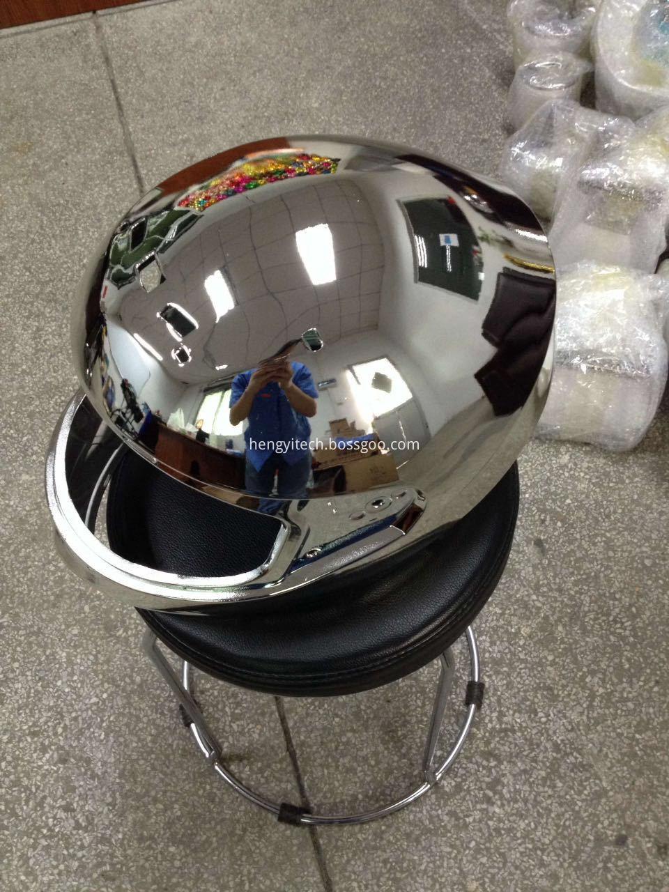 plating metalizing helmet