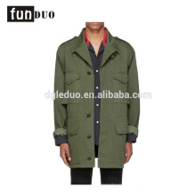 Casual popular long jacket cotton twill cool mens jacket Casual popular long jacket cotton twill cool mens jacket  army jacket