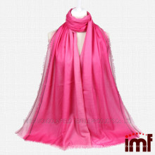 Gradient Color With Spun Glod Line Cashmere Scarf