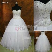 RSW236 trägerlose Kristall appliques für Hochzeitskleid