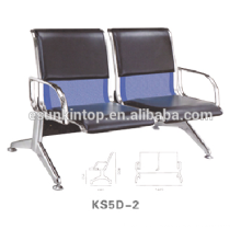 Two seat chairs for commerical used, For office/ Hospital, Aluminum armrest and legs finishing (KS5D-2)