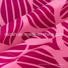 Rojo Poliéster rosa algodón popelín tela para señoras desgaste