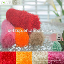Salon moderne bain étanche cheveux longs tapis longue pile 100% polyester machine lavable tapis d'entrée