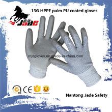 Вырезать 13Г Гари полиуретановым покрытием безопасности перчатки уровня 3 и 5