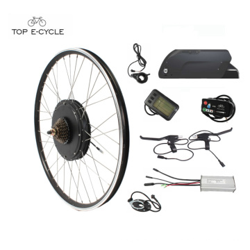 Kit Elektroteil Rad 20 '' - 28 '' Radgröße Elektrofahrrad Umbausatz für DIY Elektrofahrräder