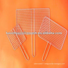 Easily cleaned stainless steel barbecue BBQ grill wire mesh net