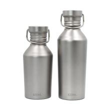Botella deportiva de titanio con tapa para ciclismo de camping
