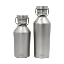 Titanium Sports Bottle with Lid for Camping Cycling