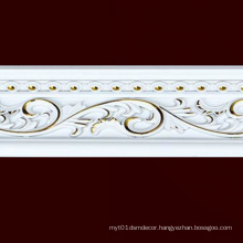 W13cm White Stamping Gold Building Material Moulding Cornice