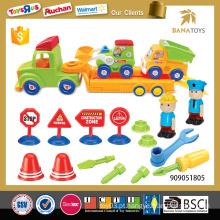 Plástico, desmontagem, montagem, construção, plástico, car, brinquedo