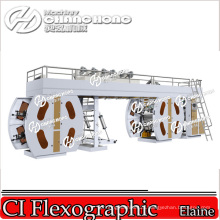 4+4 Full Width Woven Bags Flexographic Printing Machine