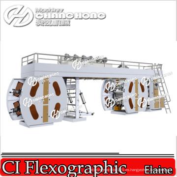 Impresora flexográfica de nylon de 4 colores