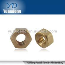 Porcas hexagonais de latão / anilha de latão / espaçador de latão / parafuso sextavado de bronze / porca de cobre