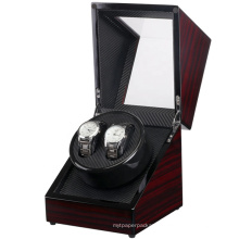 Classic Promotional Automatic Dual wooden Watch Winder Box