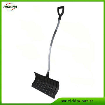 Ergonomic Snow Shovel Pusher with D shape grip