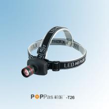 Zoom Réglable Aluminium CREE Xr-E Q5 LED Lampe frontale (POPPAS-T26)