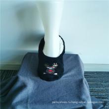 Зимние домашние тапочки с вышивкой из оленя оптом