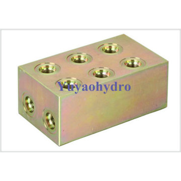 Forged Junction Block for Construction Machinery Hyundain