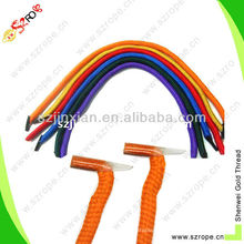 braided bag holder with plastic barb